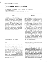 Erdener A, Balık E, Ulman İ, İlhan H, Çetinkurşun S. Çocuklarda akut