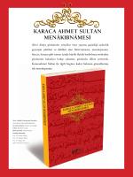 Karaca ahmet Sultan MEnâKıbnâMEsİ