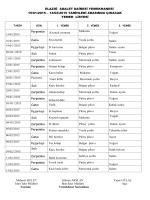 Aylık Yemek Listesi