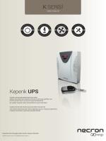 K SERİSİ Kepenk UPS