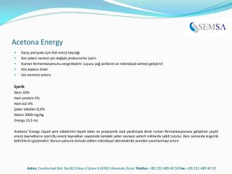 Acetona ENERGY