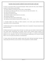 Numune Kabul Kriterleri