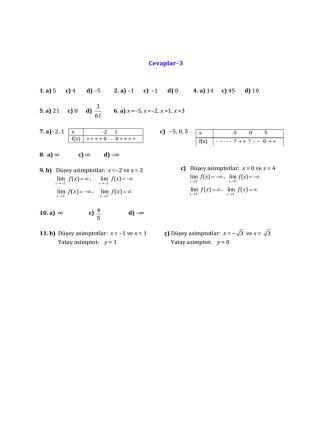 Cevaplar–3 61 3