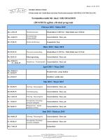 Vorläufige Terminübersicht für das Schuljahr 2014/2015 (2014/2015
