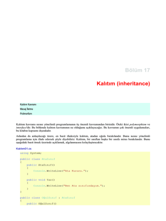 Bölüm 17 Kalιtιm (inheritance)