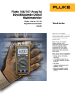 Teknik Veriler Fluke 106/107 Avuç İçi Büyüklüğünde Dijital