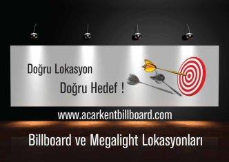Billboard ve Megalight Yerleri için tıklayın