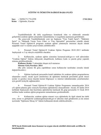 5070 Sayılı Elektronik imza Kanunu`na uygun olarak nitelikli