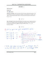 MAT 210 - DIFFERENTIAL EQUATIONS