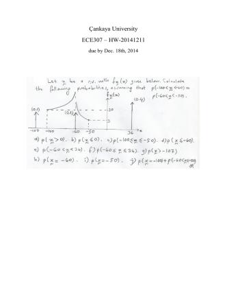 Çankaya University ECE307 – HW