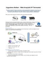 Uygulama Notları: Web Arayüzlü IP Termostat