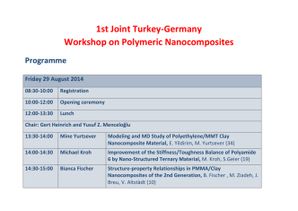 1st Joint Turkey-Germany Workshop on Polymeric Nanocomposites