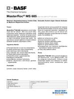 MasterRoc® MS 685(Eski Adı MEYCO® MS 685) Betonun