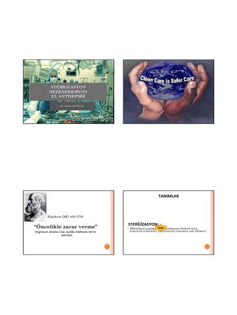 (Microsoft PowerPoint - Sterilizasyon dezenfeksiyon