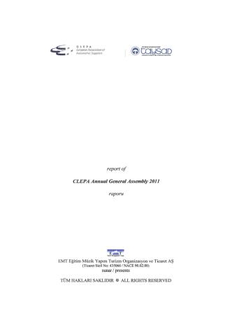 CLEPA Annual General Assembly 2011 raporu
