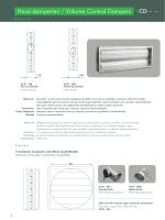 Hava damperleri / Volume Control Dampers CD -- ~