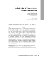 Holistic Liberal View of Moral Education of Citizens