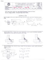 MAK 305 Makine Elemanları I - Mühendislik Fakültesi