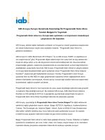 IAB Avrupa Avrupa Genelinde Hazırladığı İlk Programatik Satın Alma