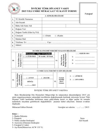 2014_Aralık_Umre_Müracaat_Formu