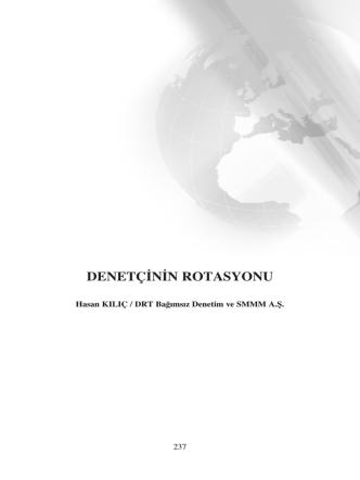 DENETÇ‹N‹N ROTASYONU
