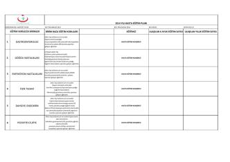 2014 yılı hasta eğitim planı