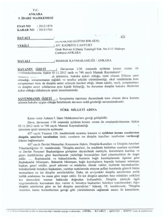 2012/1874 karar no :2013/1761