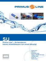 Primus Line® – Su borularının kazısız rehabilitasyonu için esnek