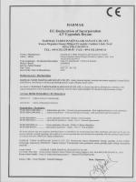 HARMAK EC-Declaration of Incorporation AT Uygunluk Beyanı