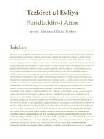 Tezkiret-ul Evliya Feridüddin-i Attar