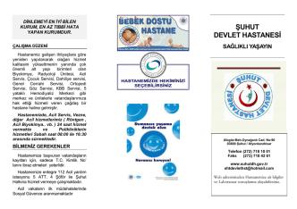 Broşür2014 - Şuhut Devlet Hastanesi