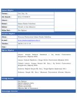 Özgeçmiş - Giresun Üniversitesi İslami İlimler Fakültesi