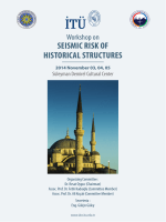 tno dıana - Workshop on Seismic Risk of Historical Structures