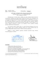 TAREKS uygulamasının 01.05.2014 tarihinde yürürlüğe gireceği