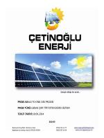 dosyayı indir - Çetinoğlu Enerji . Aydında Güneş Enerjisinden
