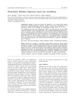 Prematüre bebekte bilateral renal ven trombozu