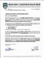 genelge no 027 - Ankara Ve Esnaf Sanatkarları Odaları Birliği