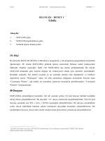BLGM 424 – DENEY 1 GİRİŞ Amaçlar Ön Bilgi M