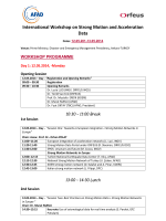 International Workshop on Strong Motion and Acceleration Data
