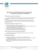 ortaokullar komisyonu okuma grupları çanakkale yarışması yönergesi
