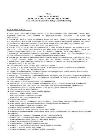 1. Sayfa - Kars KHB