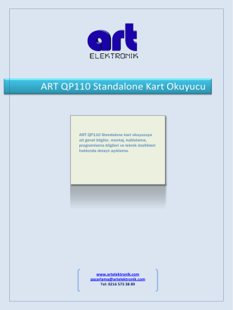 ART QP 110 - Art Elektronik