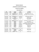 Mimarlık Fakültesi 2014-2015 Güz Dönemi Final Sınav Programı