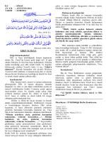 İLİ : SİNOP AY-YIL : AĞUSTOS-2014 TARİH : 22/08/2014 EDEP VE