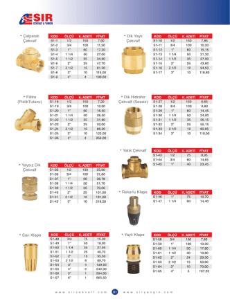 2014 Fiyat Listesi için lütfen tıklayınız.