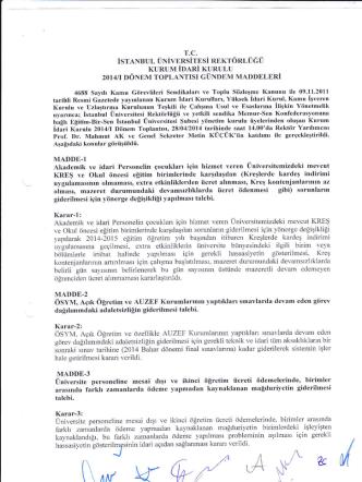 2014-1.dönem kurum idare kurulu tutanağı