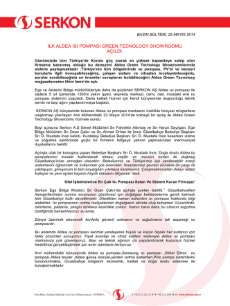 25 Mayıs 2014 Basın Bülteni