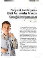 Pediyatrik Popülasyonda Klinik Araştırmalar Kılavuzu