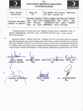 23.10.2014 tarih, 797 sayılı karar