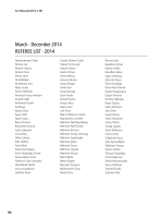 March - December 2014 REFEREE LIST